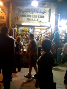 making my way into the spice souk